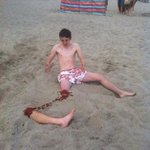 Nice beach prank. Well played, lads. Well played. http://t.co/OCAwLZw2W3