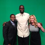 3 hometown kids! Me and @derrickcyoung with @Chicagobulls player @nazrmohammed. Go #Chicago! http://t.co/lgRX6bACGJ