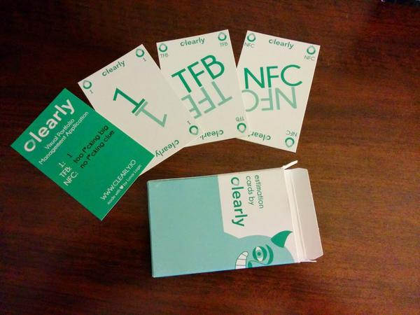 My fav estimation scale: 1, TFB (too fucking big), NFC (no fucking clue). Catch me at #agile2014 to get a card deck! http://t.co/GMWxkj3l2J