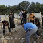 Human remains had to be reburied after a missile strike hit a Gaza cemetery http://t.co/wmO71BWUBE [Pic: PA] http://t.co/V7yp3EZSeH