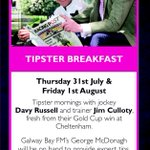 Thanks for the tip today @_Davy_Russel_ Getting in form for our Tipster Breakfasts on Thurs & Fri with @JimCulloty http://t.co/AERo6JpncC