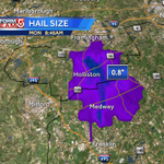 RT @Met_CindyFitz: Radar indicating cell in Metro West producing some pea size hail in addition to sheets of rain and lightning #WCVB http://t.co/T3Fi5XbxVL