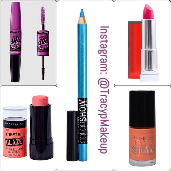 #WIN this @MaybellineCAN mascara, lipstick, blush, kohl eyeliner & nail lacquer! To enter: follow @TracypMakeup & RT! http://t.co/hpGHtIoixY