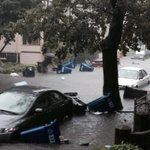 RT @DanielAdams86: SEVERE flooding, Bromfield Rd. Somerville. Garbage cans floating, cars covered over hoods. @bostonglobe @universalhub http://t.co/qpvvybXJmz