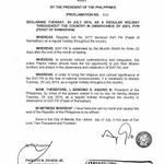 #walangpasok • Tomorrow, July 29, 2014, is a regular holiday throughout the country in observance of Eidl Fitr: http://t.co/Kdfy1Gp3VM