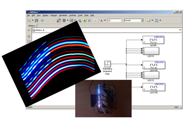 Light painting effect with Simulink, Arduino and LEDs