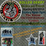RT @cogglesworth: @staffsdevildog new venue and practice time info to share. #rollerderby #stokeontrent #stoke http://t.co/isJZTGHqp2
