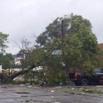 Confirmed #Tornado in Revere, MA this morning causing this damage just NE of Boston, MA. #Severe #MAwx http://t.co/Httkpo5tAV
