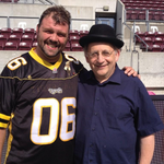 The NAO performed #OCanada at the @Ticats game over the weekend! Here is a behind the scenes photo with @BorisBrott http://t.co/aP0y47ziYQ