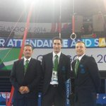 RT @Kiwimrsmac: My little brother (centre), judging for NZ at the @Glasgow2014 Commonwealth Games. #soproud @nzolympics @B_Faumuina http://t.co/Dk33RgkYWj
