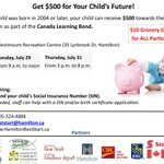 Have a child born in 2004 or later? Learn how you can get $500 towards their education through Canada Learning Bond. http://t.co/86eWGtfEVM