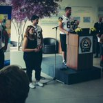 #Ticats players & @caretakerbob on hand to announce our new Hearts in the Huddle partnership with Mac Kids Hospital. http://t.co/X7B6qdGEa2