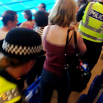 Woman removed from Commonwealth games for flying a Yes flag and displaying a Yes on her handbag http://t.co/Q9K6HTH6TH