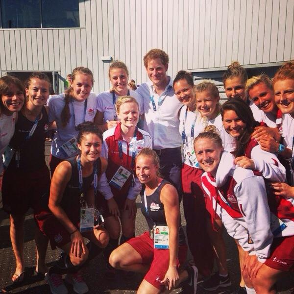 Georgie Twigg @georgietwigg: Prince Harry loving the hockey girls! #Glasgow2014 #TeamEngland http://t.co/QOunlrBTAa