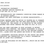 RT @JayWBZ: New: Full text statement from the National Weather Service confirming this morning's #tornado in #Revere http://t.co/mddpcBH7cH