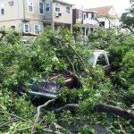 RT @MassStatePolice: A lot of damage, but thankfully no injuries reported to MSP in regard to #Revere #Tornado. Please avoid Revere area. http://t.co/Tb6gh5M2u8