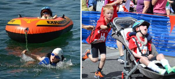 What an amazing little boy 8-year-old boy completes triathlon with his disabled little brother http://t.co/yrLJcbSAWK http://t.co/TlNKOeKmWk