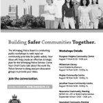 Police Board Public Consultation meetings!!!! Be heard! #winnipeg #wpgcouncil http://t.co/L8XItAA33s