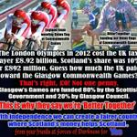 RT @Willie_Fleming: @richardcalhoun Any thoughts on - @Glasgow2014? Youll be surprised #indyref @HuffPostUK http://t.co/44ctd24iHH