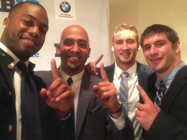 Having a blast repping #PSU with these guys. Lots to be excited about as season gets closer. #B1GMediaDay #107kStrong
