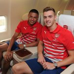 RT @Arsenal: Its Chambo and Chambo on their way to @Arsenals Austrian training camp! #WelcomeChambers http://t.co/oTfWNsNxZ6