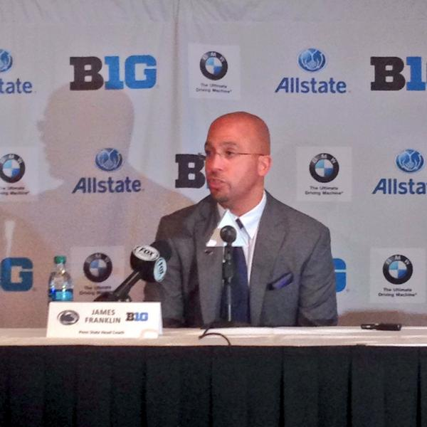 James Franklin and the #NittanyLions are up for their one-on-one interviews at #B1GMediaDay.