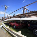 PHOTO: A billboard fell on top of parked cars in Revere http://t.co/mKFVgIyqWr http://t.co/oz2rgJAaGc