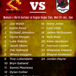 RT @WaikatoRugby: The Waikato team for their first pre-season game against @HarbourRugby tomorrow in Raglan has been named: http://t.co/m9TJB2rOIb