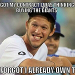 Clayton Kershaw has a 1.40 career ERA against the #SFGiants http://t.co/jxReYSdoVs