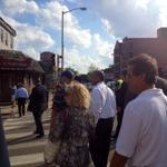 Governor @DevalPatrick touring tornado damage in @Revere http://t.co/6YOA22rI4V