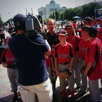 RT @CBCManitoba: .@johnsauderCBC getting ready for CBC News LIVE @Wpg_Goldeyes w/ @SMBABraves. Catch these kids @ 5, 5:30 & 6 http://t.co/85vg41SGJH