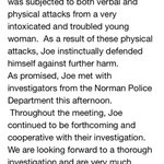 RT @jasonkersey: Statement from Joe Mixons attorney http://t.co/bD7I8SvK8N