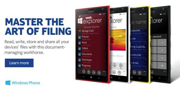 Aerize Explorer Pro File Manager for Windows Phone