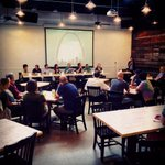 "Nice turnout for the ""Women in Craft Beer"" panel at Bottleworks tonight as part of #STLCBW. http://t.co/OmdjIaG7Ib http://t.co/o6HfSTu14H"