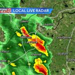 Strong t-storms across NE MA. Storms weaken or move offshore at sunset #wcvb http://t.co/hf9YuUhacd