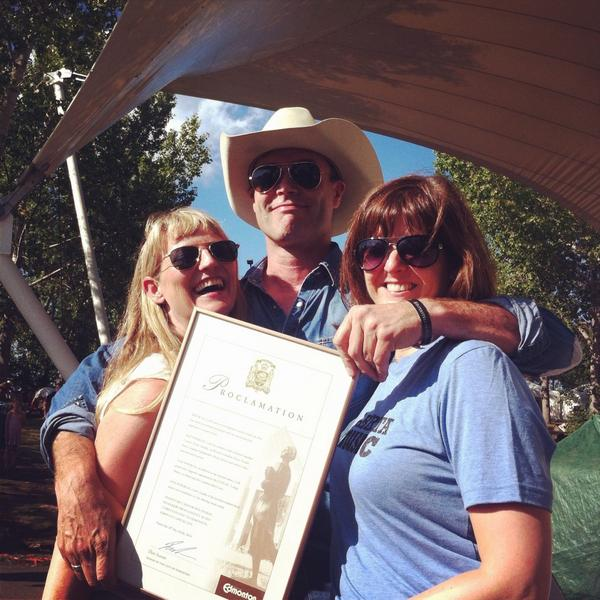 The proclamation has been read! It's officially @CorbLund Day! #interstellarrodeo @SixShooterR http://t.co/63XHbU6sG1