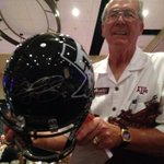 RT @McCoyKRHDSports: A black A&M helmet signed by Manziel sold for a record breaking $15,500 tonite at Brazos Co A&M Coaches Night #Aggies http://t.co/QCpIUmkASl