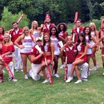 OU Cheer, Pom, Lil Sis & shotguns. Tough job but nothing the Oklahoma RUF/NEKS cant handle. #FADADA #BoomerSooner http://t.co/TYEhR9vbkj