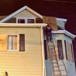 Board-ups continue into the night in Revere after the tornado blew out windows. #wcvb http://t.co/JHoULzftyF