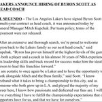 RT @mcten: The Lakers officially make Byron Scott the 25th coach in franchise history. Press conference tomorrow http://t.co/tX3W9daCyl