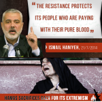 "RT @IsraeliPM: #Hamas sacrifices #Gaza for its extremism: ""The resistance protects its people who are paying with their pure blood"" http://t.co/EEblcZAr0o"