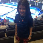 So excited were in our seats an hour early. Rowan says #bringiton #2014gymnastics http://t.co/i6GeoJg6aQ