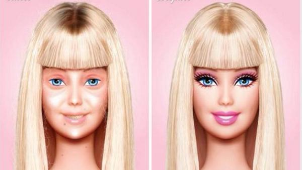 Barbie without makeup. http://t.co/I1ltJ9phT9