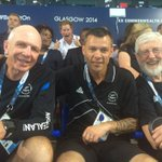Prince Harry copies Gran and photobombs New Zealand rugby coach at Glasgow Commonwealth Games http://t.co/7Sv618ntqs http://t.co/r9p0Dqo5JJ