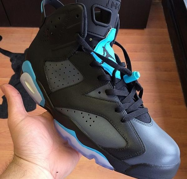 """What are your thoughts on these """"Gamma Blue"""" Jordan VI customs? http://t.co/xBOsN8vtYd"""