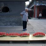 RT @DailyMonitor: A #Chinese Muslim looks at a table full of watermelon before breaking his #Ramadan fast at a mosque in #Beijing http://t.co/YL0mp1HAhu