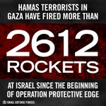 RT @IDFSpokesperson: In about three weeks, Hamas has fired over 2,600 rockets at Israels civilians. http://t.co/lrsgFewwm1
