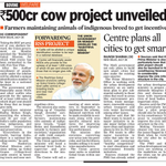 Modi Sarkar to spend 500 crore for Gokul Raksha project to save and promote Indian cow breed . http://t.co/W7HaU2lTI2