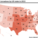 RT @BostonGlobe: RT @GlobeDataDesk: Where do tornadoes frequently touch down in the United States? http://t.co/FUnNs0VOE6 http://t.co/MEWrKXAyck