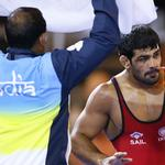RT @IExpressSports: #CWG2014: Sushil, Amit in finals of 74kg & 57kg respectively while Tomar in 125kg finals http://t.co/Hw9X2wLtU0 http://t.co/aZz0TEZmfe